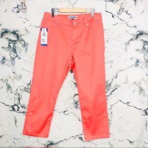 Nygard Cropped Jeans Women Plus Size 16 Peach